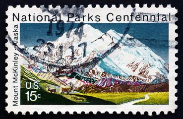 Postage stamp USA 1972 Mt. McKinley, Alaska