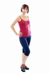 Fitness healthy woman