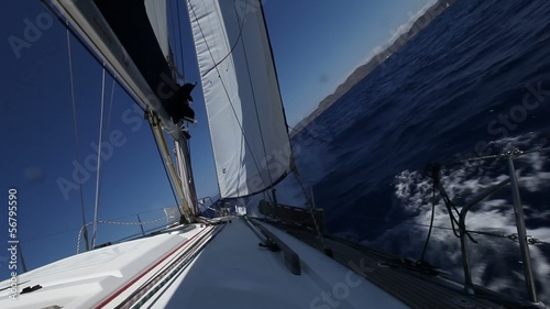 Luxury yacht . Sailing regatta shot in full HD.