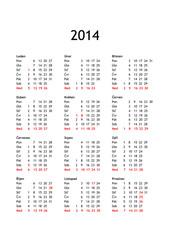 Calendar year 2014 Czech