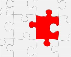 Puzzle tassello risolutivo