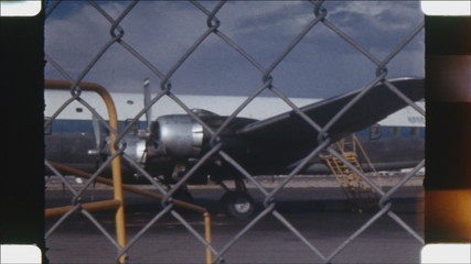 Douglas DC6-B. (Vintage 16mm film footage).