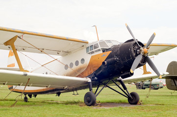 Old propeller airplane Antonov An-2.