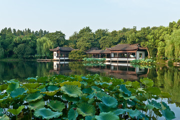 Hangzhou west lake scenery, China