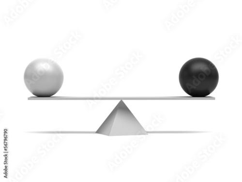 Perfect balance concept
