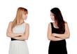 Angry teen sisters