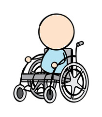 Character in Wheelchair