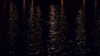 Reflection in Water at Night