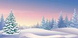 Winter sunrise panoramic
