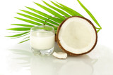 coconut milk and cut coconut
