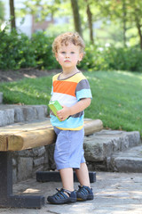 Child Outdoors Hot Summer Spring Day, Hydrating