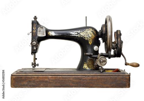 Leinwandbild Motiv antique sewing machine