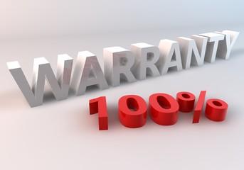 Warranty 100%