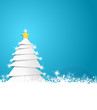 Weihnachtsbaum Schneesterne blau