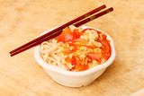 noodle with egg and vegetables