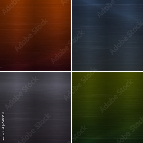 Set of metal background textures