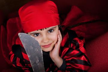 Little pirate girl portrait