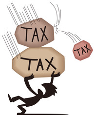 税負担に苦しむ男性