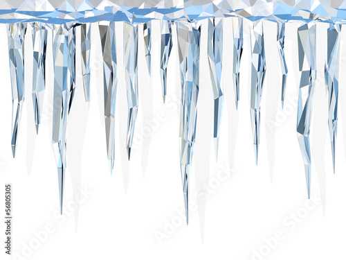 Low poly icicles