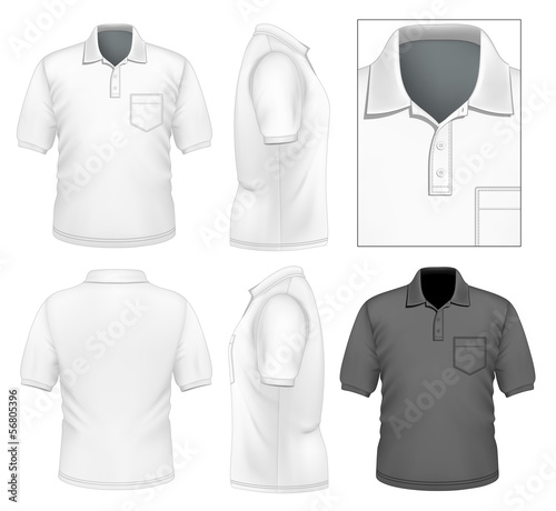 Men's polo-shirt design template
