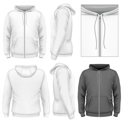 Men's zip hoodie design template