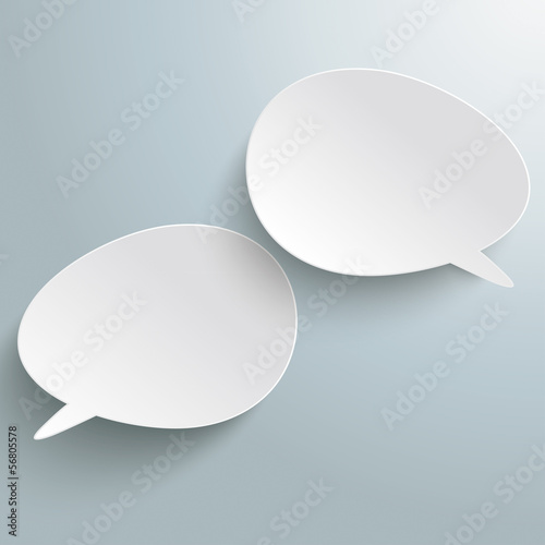 Two Bevel Speech Bubbles