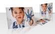 Tirage photo - enfant jouant avec la peinture