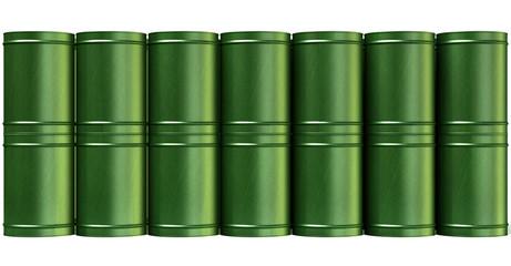Green Barrel Stack Front