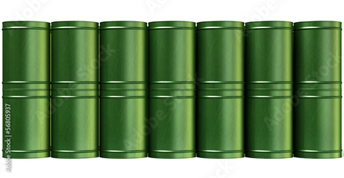 Green Barrel Stack Front