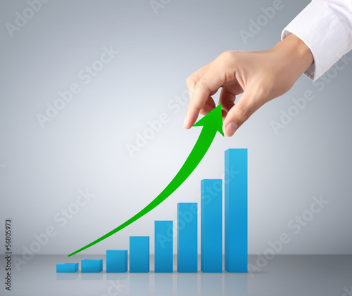 Graph in the hand businessmen