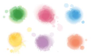 Set of Watercolor Spots © masyle