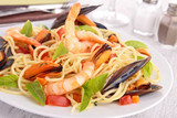 spaghetti and crustacean