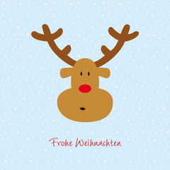 rentier im schnee frohe weihnachten