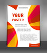 Abstract poster with rays. Design layout template
