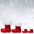 Voucher for christmas with Santa boots