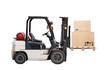 Standard small truck lift with cargo boxes
