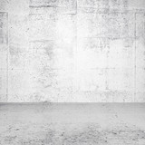 Abstract white empty interior with concrete wall and floor