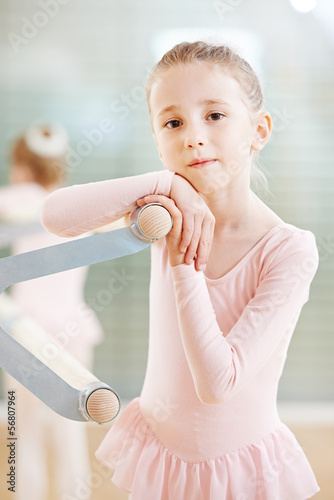 girl at ballet training