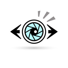 The Eye made of Camera Lens