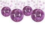 Christmas ornaments with background