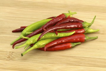 Chilies on wood