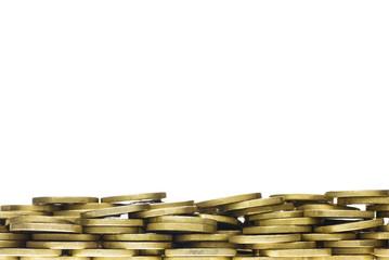 Gold Coin Heap Frame Border
