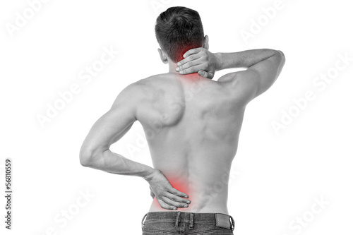 Sports injury pain towards back