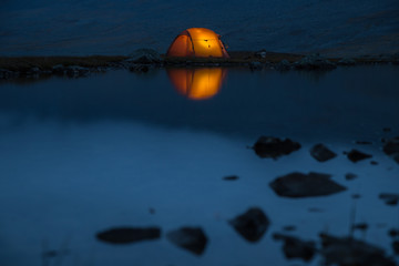 Luminatet Tent on a mystic Lake