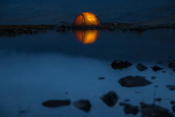 Luminatet Tent on a mystic Lake