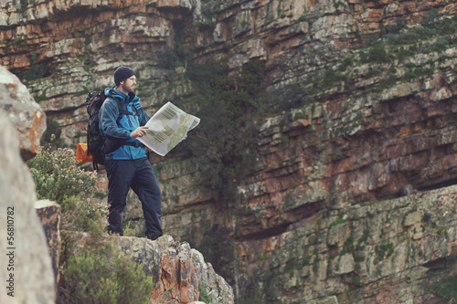 hiking map man