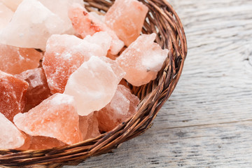 Pink salt crystal