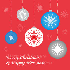 Christmas New Year greeting card 2014
