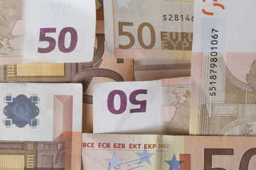 Texture di banconote da cinquanta euro