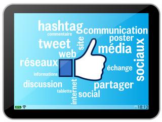 Tablette : réseaux sociaux